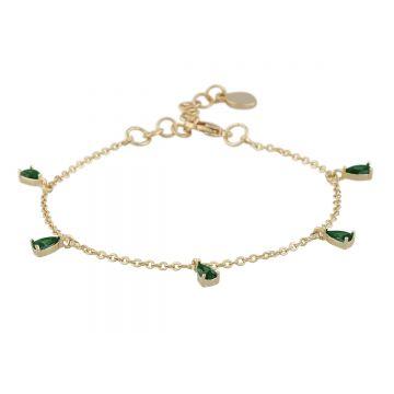 Käevõru Camille kuld/roheline