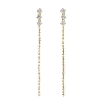 Kõrvarõngad Camille kuld/kristall