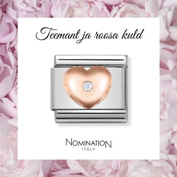 Nomination Composable Classic erilüli teemantiga süda