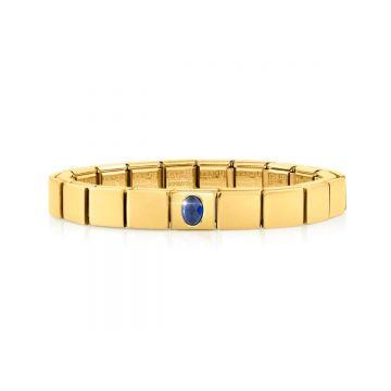 Nomination Composable GLAM käevõru sinise ovaalse tsirkooni lüliga