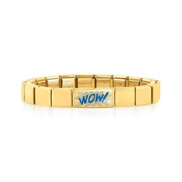 Nomination Composable GLAM käevõru hõbedase glitter WOW! topeltlüliga
