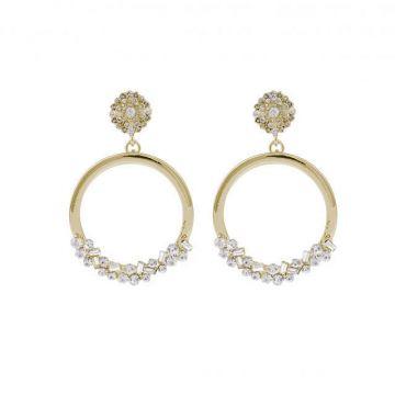 Kõrvarõngad Awa kuld/kristall