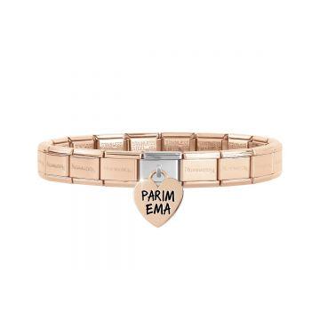 Nomination Italy roosa kulla käevõru PARIM EMA rippuva lüliga